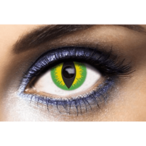 Lentilles Yeux de Serpent 1 an - Devil Green -