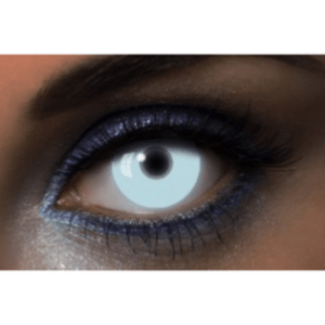 Lentilles UV Glow Blanches - 1 an