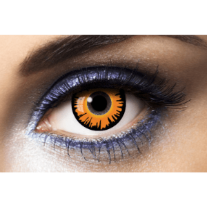 Lentilles Halloween 1 an - Orange Werewolf -