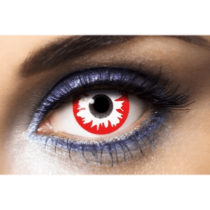 Lentilles Zombie 1 an - Red Horror -