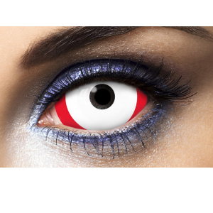 Lentilles 22mm Sclera Red Line 1 an