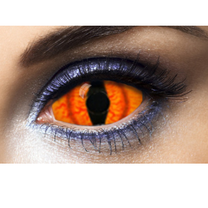 Lentilles Sclera orange 22 mm Shadowcat - 1 an