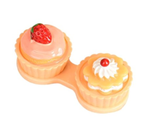 Etui de Transport pour Lentilles Cupcake Orange