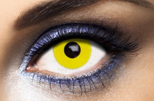 Lentilles Fantaisie Jaunes Yellow Out 1 an