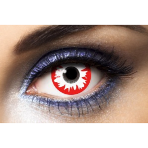 Lentilles Fantaisie Red Horror Blanche & Rouge 1 an