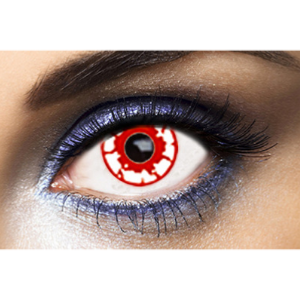 Lentilles Fantaisie Blanches Zombie Red 1 an