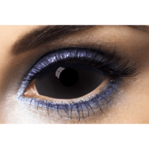 Lentilles Sclera Noires 1 an - All Black -