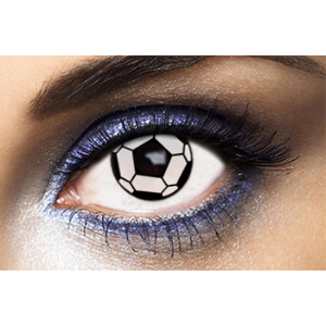Lentilles Fantaisie Ballon de Football Soccer - 1 an
