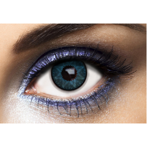 Lentilles De Couleur Los Angeles Star Blue Bleues 1 an