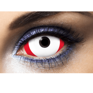 Lentilles Sclera Blanches 1 an - Red Line -