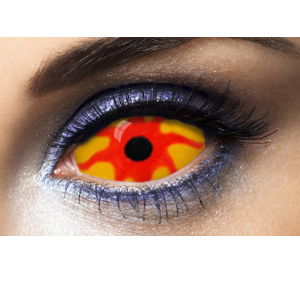 Lentilles Sclera orange et rouges 22 mm Nemesis - 1 an