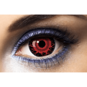 Lentilles Rouges Mini Sclera 1 an - Halloween -