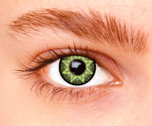 Lentilles De Couleur Los Angeles Verte Star Green 1 an