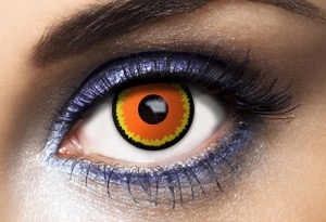 Lentilles Fantaisie Wildfire Orange 1 an