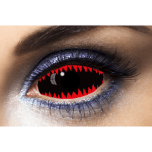 Lentilles Sclera Rouges 1 an -  Jaws Red -