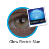 Lentilles Fantaisie ColourVue Glow Electric Blue - 1 an