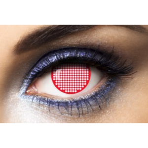 Lentilles Fantaisie Fashion Lentilles Red Screen - 1 an